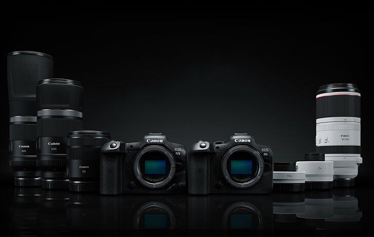 Cámaras y objetivos Canon RF