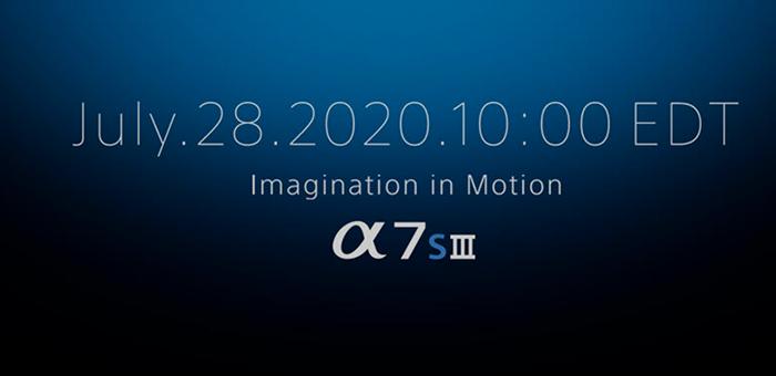 La nueva Sony A7sIII será anunciada el 28/07/20