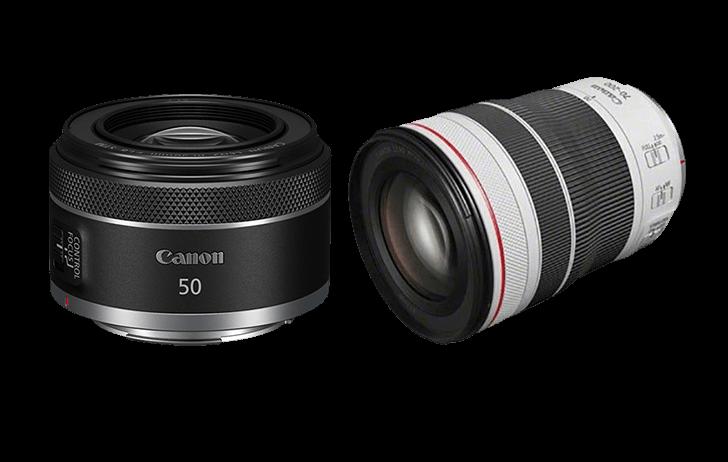 Detalles de los nuevos objetivos de Canon RF 50mm f1.8 STM y RF 70-200mm f4 L IS USM