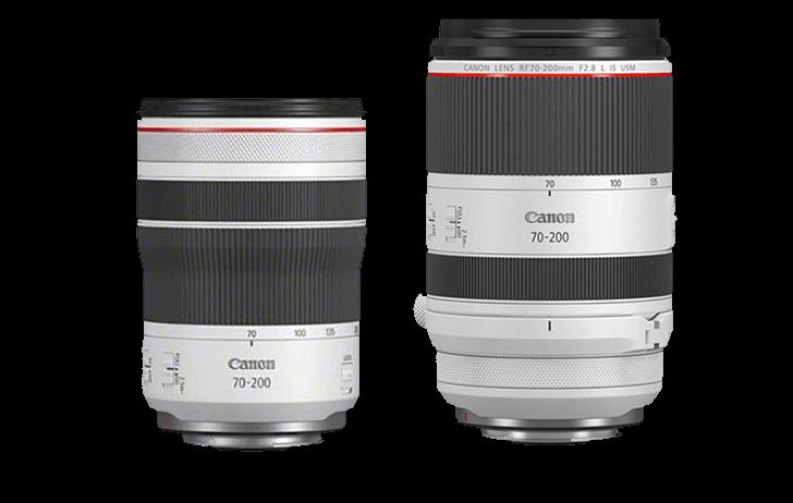 Canon lanzará en breves el RF 50mm f1.8 STM y RF 70-200mm f4 L IS USM