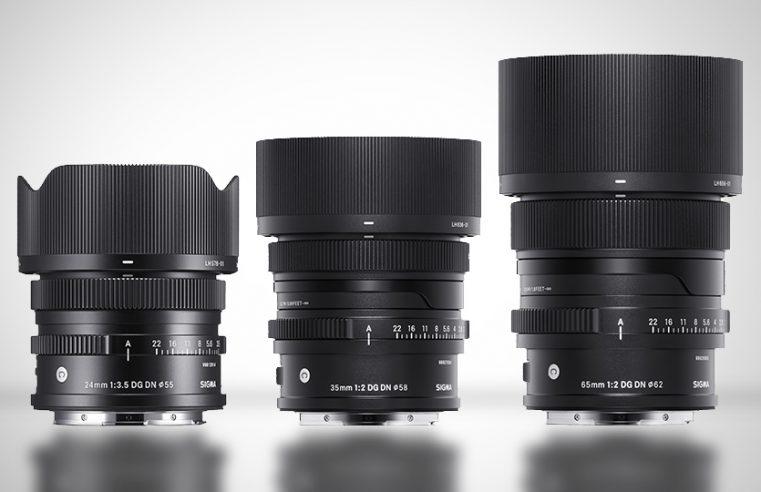 Sigma lanza una nueva serie de objetivos con el 35mm f2, 65mm f2 y 24mm f3.5
