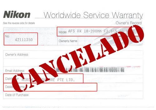Nikon elimina la garantía internacional de objetivos y accesorios