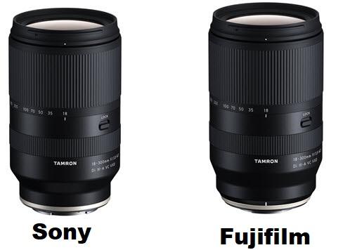 Tamron anuncia un ultrazoom 18-300mm f3.5-6.3 Di III-A VC VXD para las APSC de Sony y Fuji