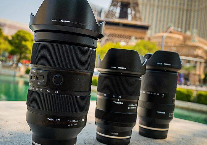 Tamron está preparando un zoom 35-150mm f2.0-2.8 Di III VXD para montura E