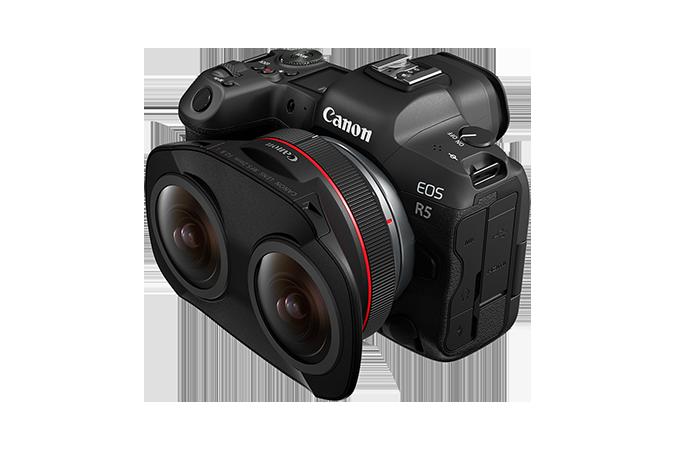 Canon anuncia un objetivo «ojo de pez» RF5.2mm f2.8 L con doble lente para producciones de Realidad Virtual